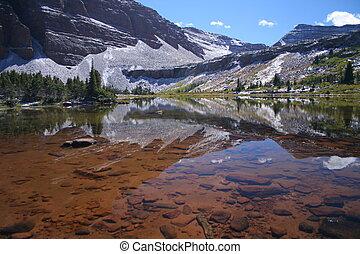 mountain lake - lake in the uinta mountain in Utah
