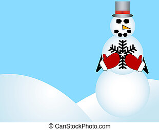 Snowman Background with Room for Your Text