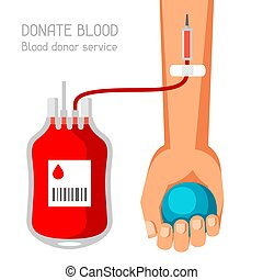 Donate blood donor service. Medical and healthcare concept