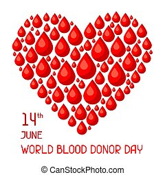 14t June world blood donor day. Medical and healthcare concept