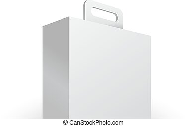 Carton Or Plastic White Blank Package Box With Handle....