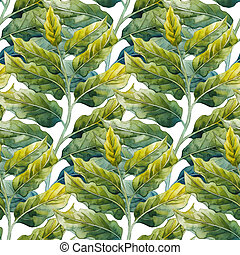 Watercolor ylang ylang pattern - Watercolor ylang ylang...
