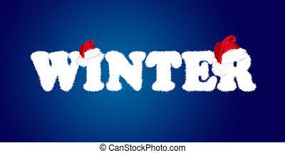 palabra, invierno, navidad, tapas