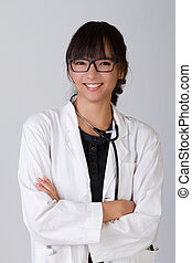 doctor - Attractive Chinese medical doctor with friendly...