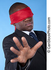blindfold african businessman - Hostage african businessman...