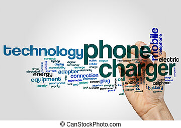 Phone charger word cloud