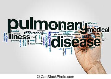 Pulmonary disease word cloud