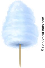Cotton candy blue. Vector illustration isolated on white...