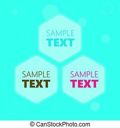 lijstjes, tekst, Zeshoekig