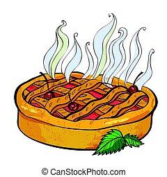 Cartoon image of pie