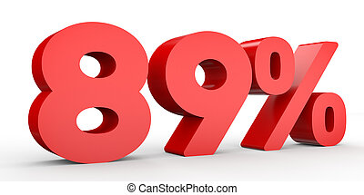 Eighty nine percent off. Discount 89 %. 3D illustration on...