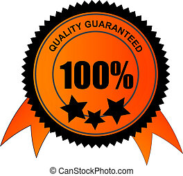 100 percent quality guaranteed vector