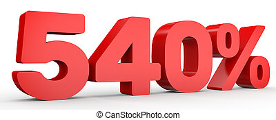 Five hundred and forty percent. 540 %. 3d illustration. -...