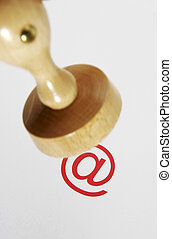 Wooden rubber stamp - internet law