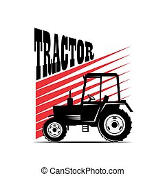 logotype tractor - vector illustration