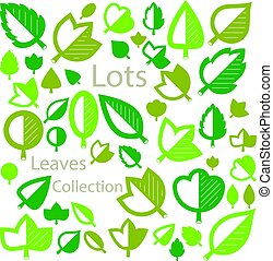 Hand-drawn illustration of simple tree leaves isolated....
