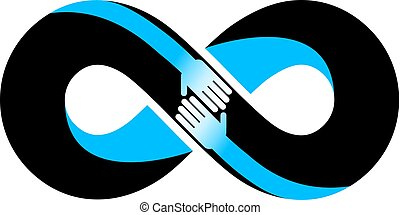 Infinite friendship, friends forever, special vector logo...