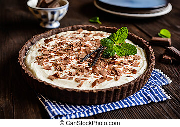 Chocolate and vanilla cheesecake - Cheesecake with vanilla...