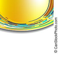 Abstract futuristic technology orange and blue 3D circle. Vector background