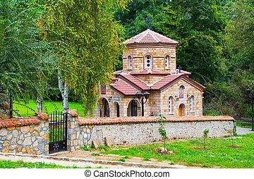 Church at Saint Naum Monastery in Republic of Macedonia -...