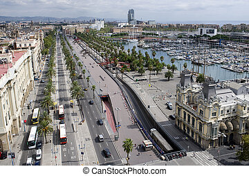 Old Port in the Barcelona - country Spain Mediterranean sea...
