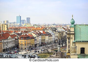 Warsaw city center, Poland - Warsaw city center with old...