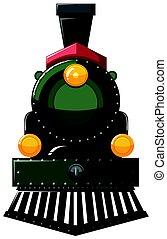 Train in green color
