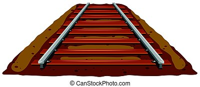 Railroad track on the ground illustration