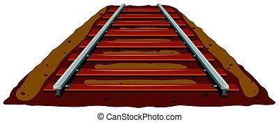 Railroad track on the ground illustration
