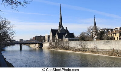 View of the Grand River in Cambridge, Ontario - A View of...