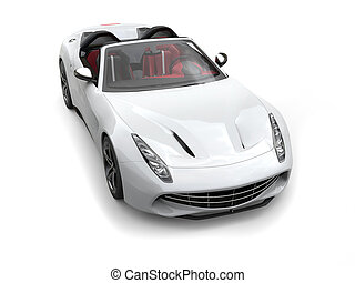 Smooth white cutting edge convertible sports car