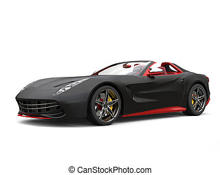 Cutting edge sports car - matte black with red details