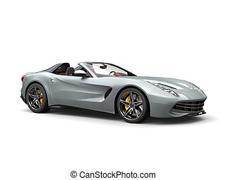 Luxury sports car with silver paintjob