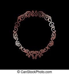 Decorative Rose Gold Frame