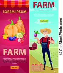 Light Farming Vertical Banners