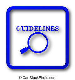 Guidelines icon. Guidelines website button on white...