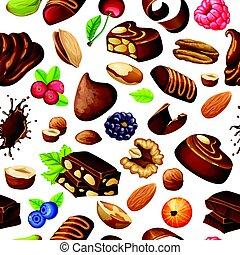 patrón,  chocolate,  seamless, caricatura