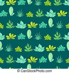 Vector Dark Blue Green Stripes Seamless Repeat Pattern With...