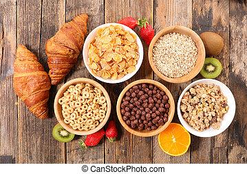assorted of breakfast cereals