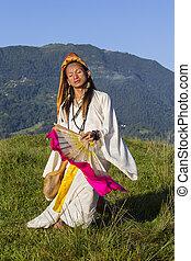 sabiha, Pokhara, nepal, bailando, FILIPINAS, nacido, sirena,...