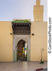 Mosque near Blue Gate in Fes, Morocco - Mosque near Blue...