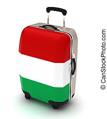Travel to Italy (isolated with clipping path)