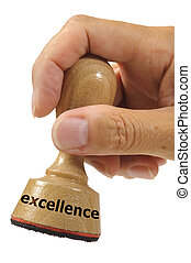 excellence - rubber stamp marked with excellece