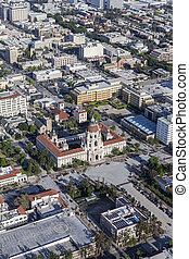 Downtown Pasadena City Hall Aerial