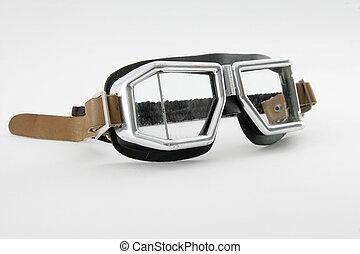 Antique cabriolet car race glasses