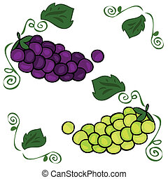 Bunches of grapes.