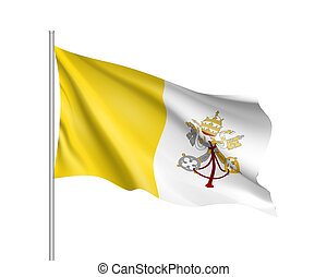 Flag of Vatican City State.