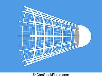 Badminton. Shuttlecock