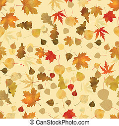 Seamless leaves of maples - Seamless autumnal background...