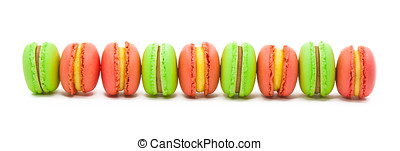 many macaron snack food